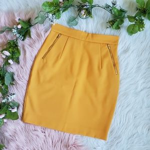 H&M Mustard Pencil Skirt